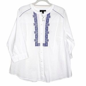 Lane Bryant Embroidered Tunic Top 14/16